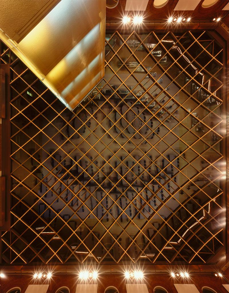 Foto: Landeshaus Kiel  Nordhof  Glasdach Von unten nach oben Nacht © www.ThorstenMischke.de Fotodesign Kiel